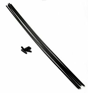 Plastic Antenna Pipe Black Cap Receiver Aerial Tube Black x 5