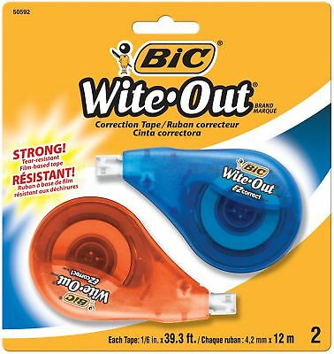Bic Wite-out Brand Ez Correct Correction Tape 2-count