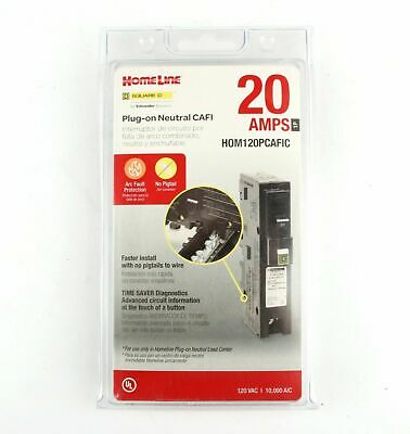 Square D Homeline Hom120pcafic 20a Arc Fault Afci Plug On Neutral Brand New