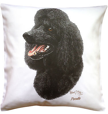 Poodle Black  RM Breed of Dog Themed Cotton Cushion Cover - Perfect Gift