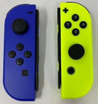 Nintendo Dark Blue / Neon Yellow Joy-Con (L-R) Controllers Nintendo Switch (VG)