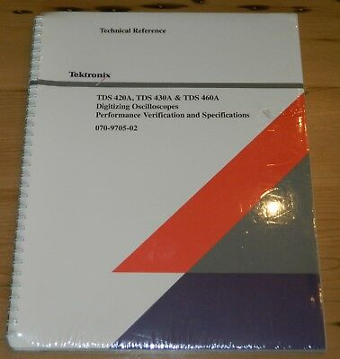 Tektronix Tds 420a 430a 460a 070-9705-02 Technical Reference New Sealed