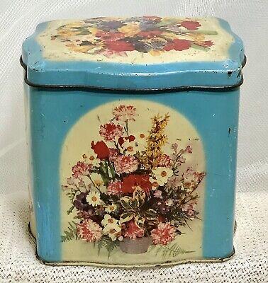 VTG Floral Bouquet Tin Box ETABL J.Schuybroek S.A. Hoboken-Anvers CECILE Belgium