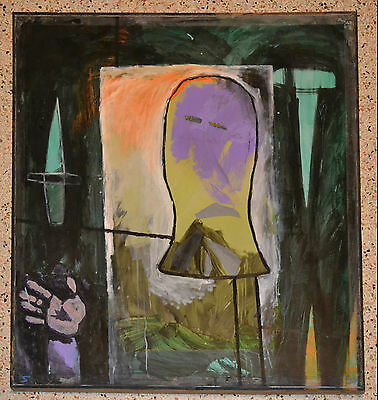 SERGIO GARCIA 1999 Painting.Cuban American Fine art.Arte Cubano.Miami 305.Nice!