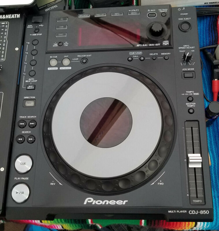Pair of Pioneer CDJ-850-K DJ Digital Multimedia Deck / Serato Controllers (x2)