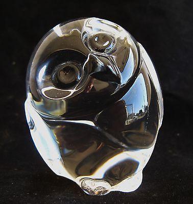 Fine Vintage Steuben Art Glass Crystal Hoot Owl Figurine