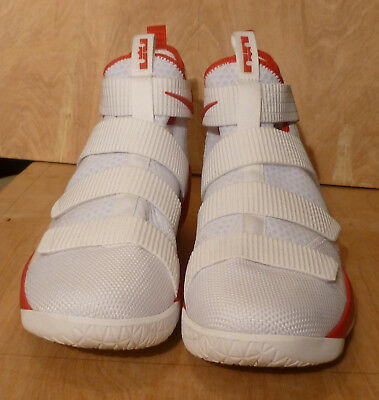 best sneakers 8865b 92807 NIKE LEBRON SOLDIER XI TB Promo Mens 943155-114 White Red Silver Size 14