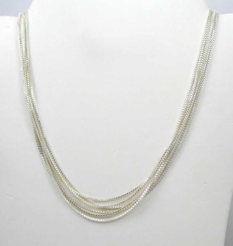 """Wholesale Lot of 6 Box Chains 16"""" 925 Sterling Silver Necklace F517"""