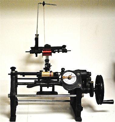Coil Winding Machine Coil Winder W Traverse Mechanism Hand Wind Coils New