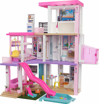 Barbie DreamHouse (3.75-ft) Dollhouse with Pool, Slide, Elevator, Lights & Sound