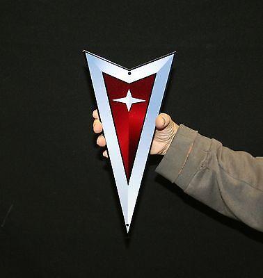 "Pontiac Arrow - Flat Metal Sign  12"" x 5""  - Die Cut - PhotoSTEEL"
