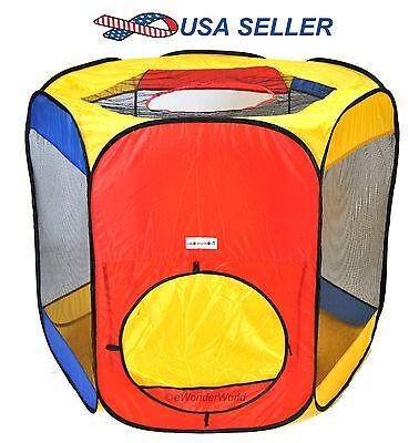 Hexagon Portable Pop Up Play Tent Mesh Indoor/Outdoor Kids Ball Pit - Ball Pit Tent