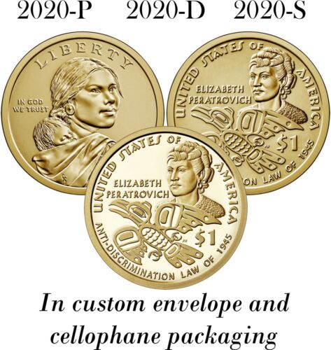 2020 Sacagawea Native American Dollar PDS P D S Unc from Rolls, Proof from Set