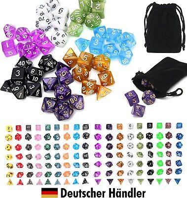 Würfel Rollen (18 Sets á 7x Rollenspiel Würfel Spielwürfel Dungeon RPG Pen-and-Paper Polyhedral)