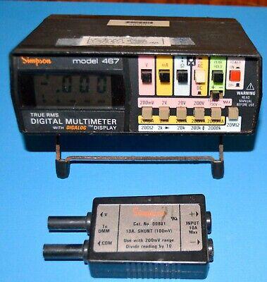 Simpson 467 - True Rms Digital Multimeter