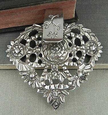 Floral Handmade Sterling Silver Scarf Slide / Clip