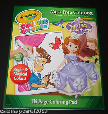 CRAYOLA COLOR WONDER MESS FREE COLOR DISNEY SOFIA THE FIRST COLORING ...