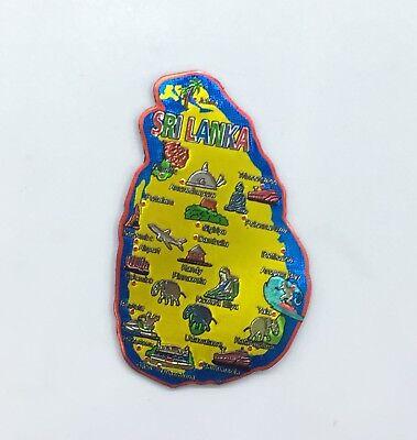 Sri Lanka City Map Design Steel Fridge Magnet