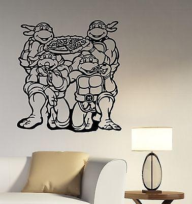 Ninja Turtles Wall Sticker Superhero Decal Vinyl Art Kids Bedroom Decor - Ninja Turtles Bedroom Decor