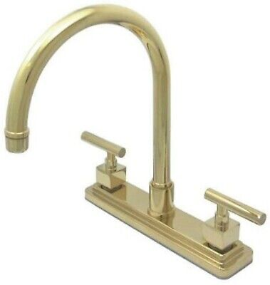 "Kingston Brass KS8792CQLLS Claremont 8"" Kitchen Faucet Without Sprayer, Polished"