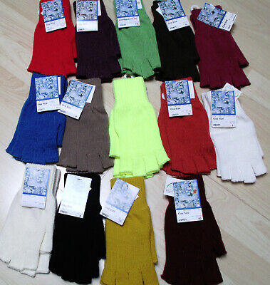fingerlose Handschuhe - Farbe schwarz-rot-gelb-grün usw.