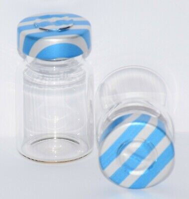 USP 5 mL Clear Sterile Vial with Blue Stripe Center Tear Seal 4 Pack