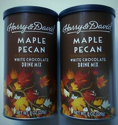 2pk Harry & David Maple Pecan White Hot Chocolate Drink Mix (2-8oz cans) Maple Hot Chocolate