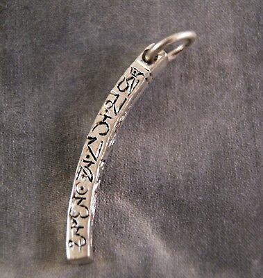 Anhänger mit Mantra ~ Amulett aus Nepal (836)