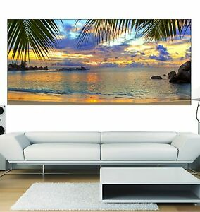 Papier peint panoramique les antilles art d co stickers ebay - Papier peint art deco ...