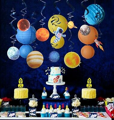 Outer space theme party supply kit swirl party decoration planet birthday party](Themed Decorations)