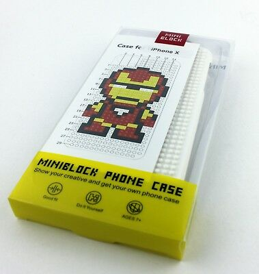 WHITE LEGO TOY BLOCKS HARD PLASTIC CASE COVER APPLE IPHONE X 10 IRONMAN IRON MAN for sale  Shipping to India