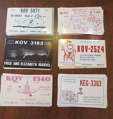 QSL Ham Radio Card Lot of 32 Oklahoma OK