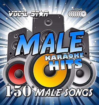 VOCAL-STAR MALE KARAOKE CDG DISC SET 150 SONGS 8 CD+G DISCS FOR KARAOKE MACHINE