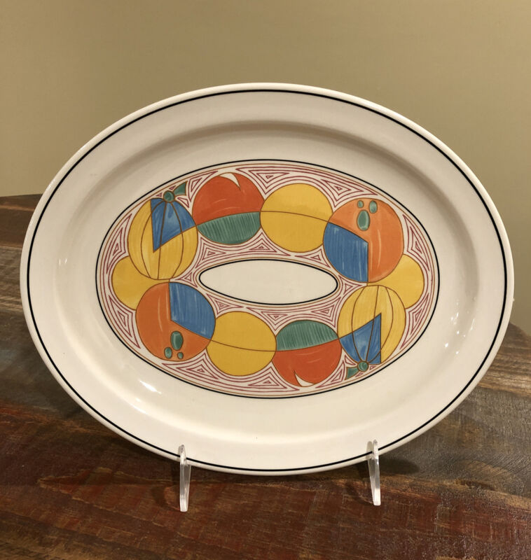 "Rare Vintage Wedgwood Midwinter Stonehenge Melon Serving Platter 12"""