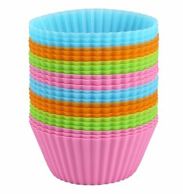 Bakerpan Silicone Cupcake Holders Liners Baking Muffin Mold Reg Cake Cup/Set 24