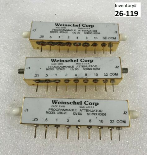 Weinschel 3200-2E Programmable Attenuator (Used Working) lot of 3