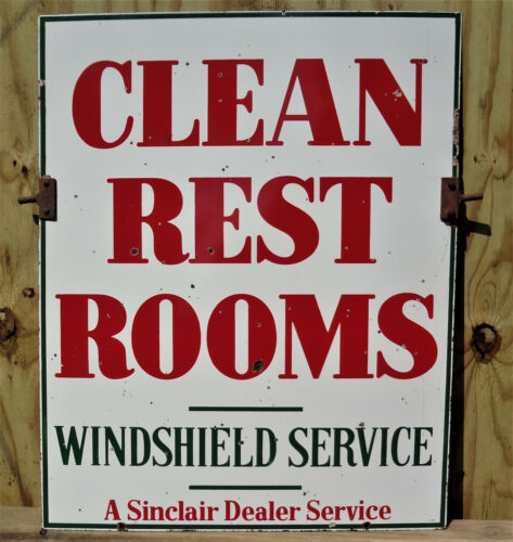 **Sinclair Clean Restroom Sign with HANGERS**