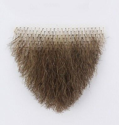 Human Hair Very Small Brunette Merkin Female Pubic Toupee the ultimate - Halloween Merkin