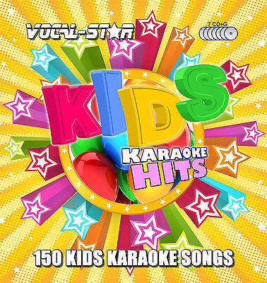 VOCAL-STAR KIDS CHILDREN KARAOKE CDG CD+G DISC SET 150 SONGS FOR KARAOKE MACHINE