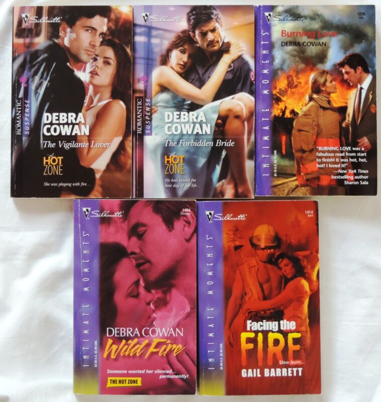 5 PBs FIREFIGHTER Books 4 Debra Cowan, 3 in Hot Zone Series 1 Gail Barrett
