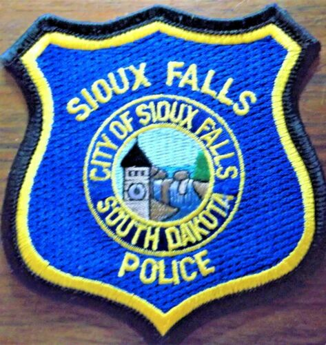 GEMSCO NOS Vintage Patch POLICE - CITY OF SIOUX FALLS SD - 25+ year old
