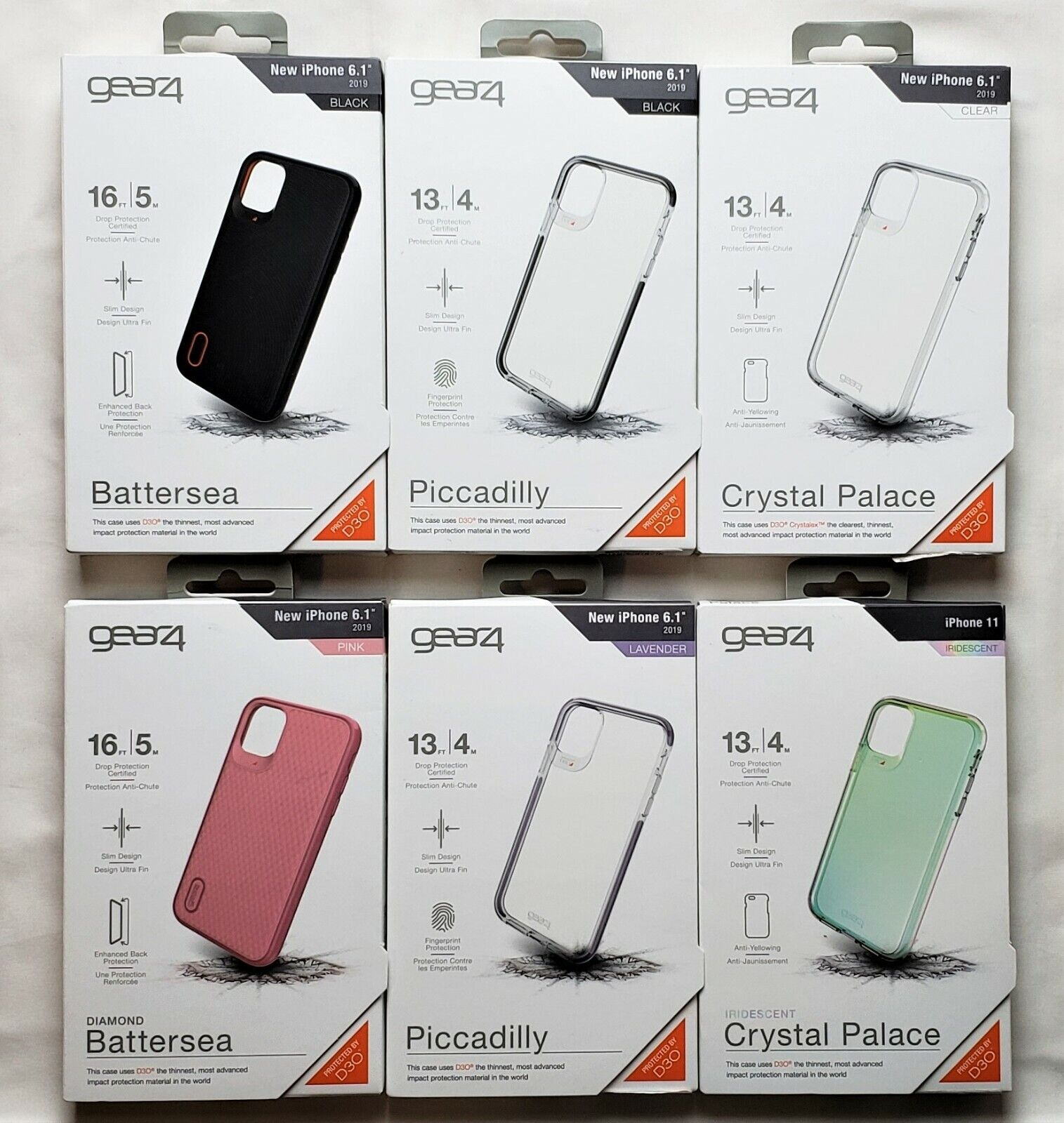 """как выглядит Gear4 Battersea - Piccadilly - Crystal Clear - Iridescent Case iPhone 11 - 6.1"""" фото"""