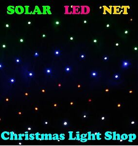 Solar Net Light MULTI 150 LED Flashing Outdoor Christmas Tree Garden Decoration