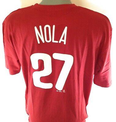 - NEW Mens Majestic Philadelphia Phillies Aaron Nola #27 MLB Baseball Tee T-Shirt
