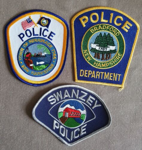 USA - 3 x Different Police Patches - New Hampshire #1