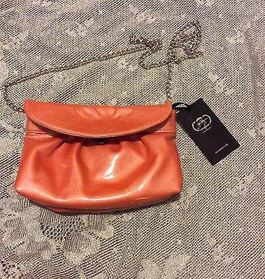 Zara Terez Nolita Genuine Leather Peach Clutch w/ Chain Strap for sale  Miami