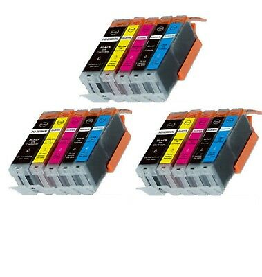 15-Pack/Pk Ink Combo for Canon PGI-250 CLI-251 Pixma iX6820 MX922 MG5620 MG6620