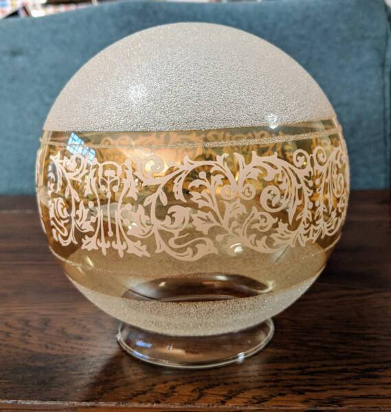 Etched Glass Lamp Shade