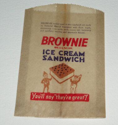 1930's Brownie Ice Cream Sandwich Bag - brownies Brownie Ice Cream Sandwich
