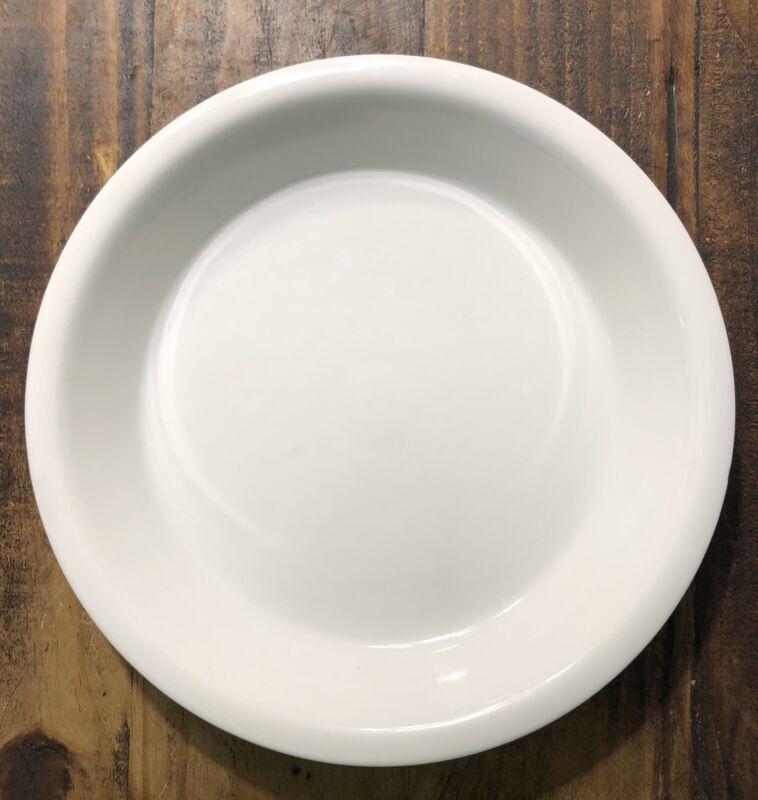 Large White Hall Porcelain Pie Plate Baker Baking Deep Dish - Forman Family